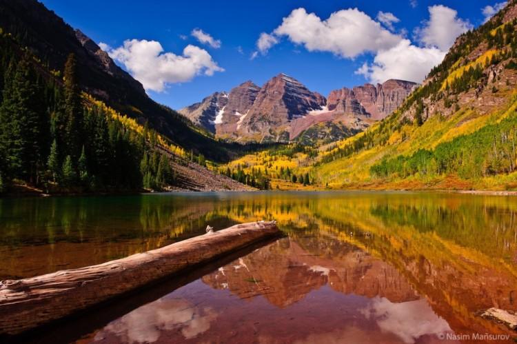 fall scenery maroon bell in colorado