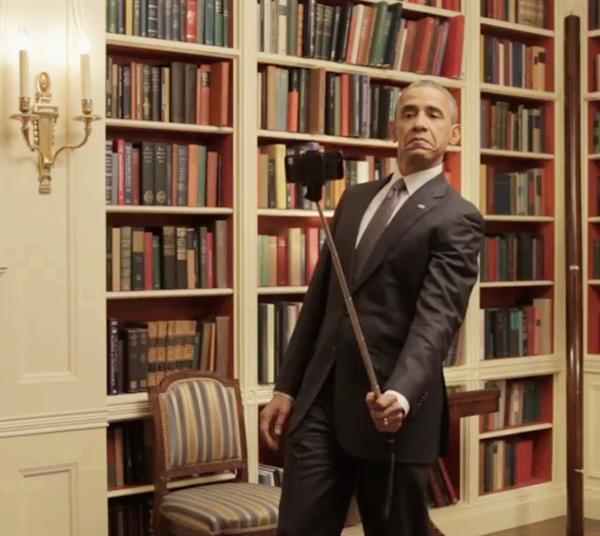Obama picitures by best selfie stick