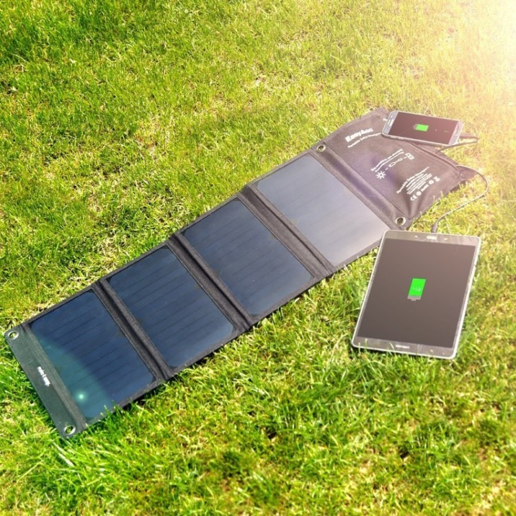 EasyAcc solar charger for summer hiking