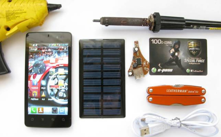 solar phone charger DIY-