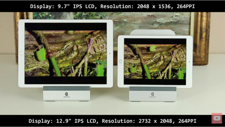 Ipad Pro 9.7 vs 12.9: Differences and Similarities: display