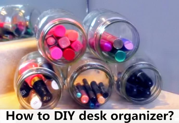 How to DIY desk organizer