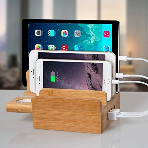 upow_cs007_5-port_usb_bamboo_charging_station