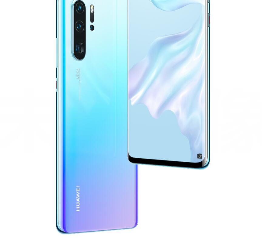 does the huawei P30 P30 Pro have a curved screen 2