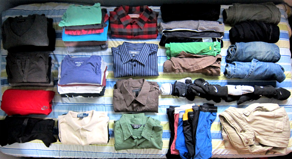 guide to make a packing about Clothing and Accessories
