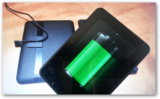 How to charge a Kindle with a power adaptor:Disconnect the micro USB cord from the bottom of the Kindle