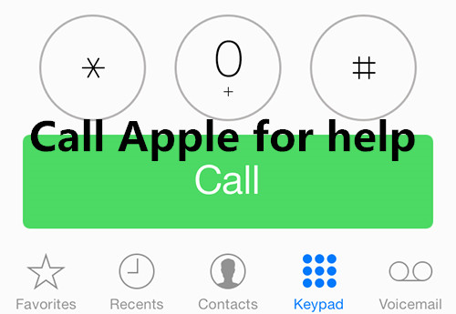 Call Apple for help