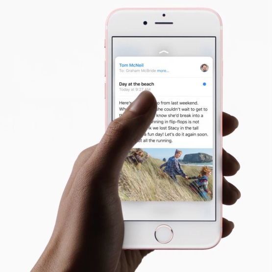3D touch for mail preview
