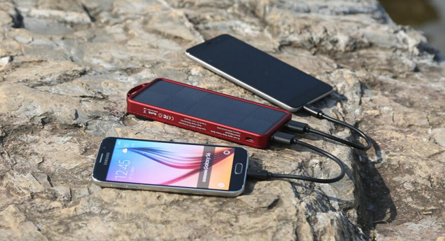 EasyAcc 8000mAh Solar Power Bank Outdoor Portable Charger