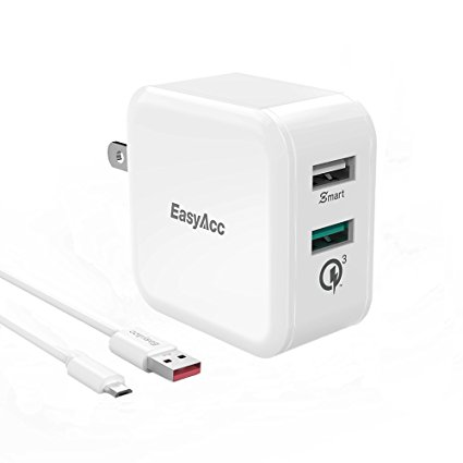 EasyAcc-30W-2-Port-with-QC3.0-Wall-Charger
