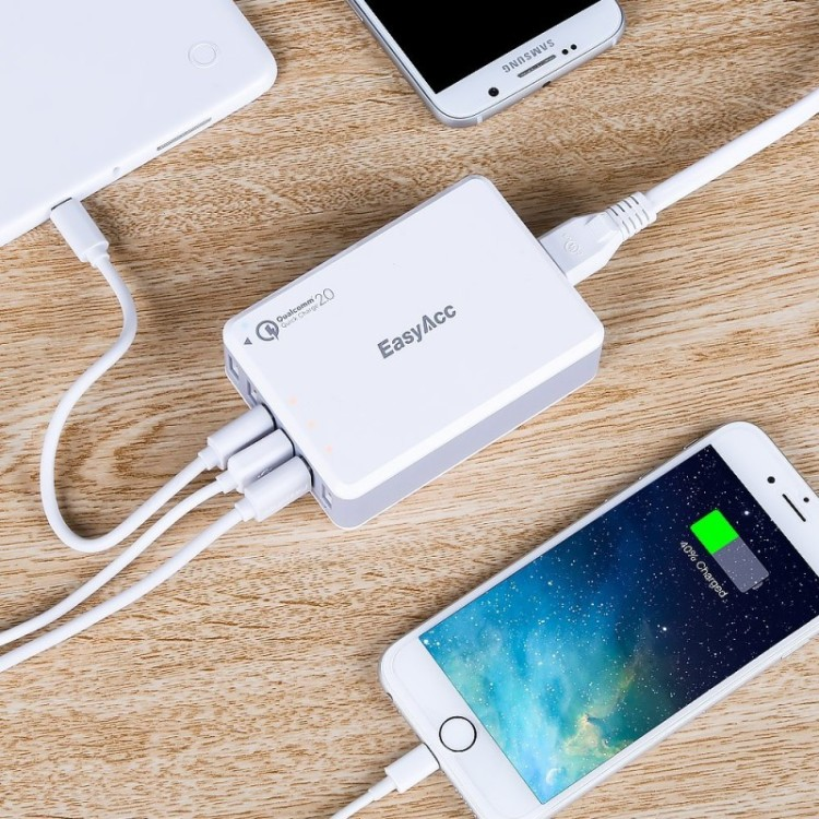 Giveaway EasyAcc usb charger 6 port desktop charging station