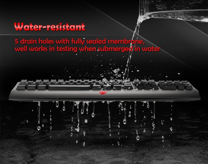 Redimp waterproof gaming keyboard