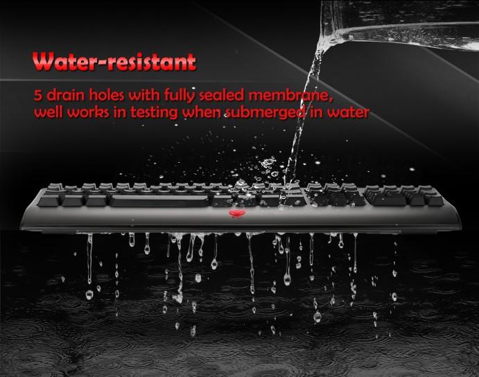 Redimp waterproof gaming keyboard