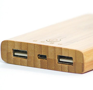 bamboo portable charger