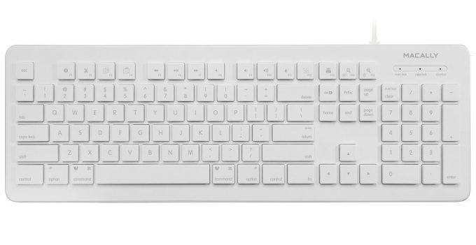 Wired Keyboard from Macally for Mac