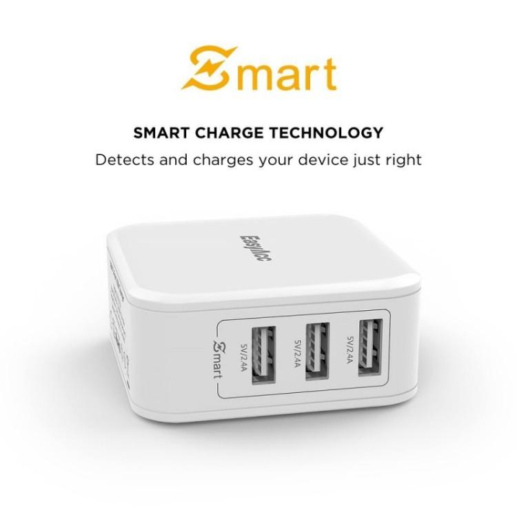 giveaway Easyacc 36w 3 port usb wall charger