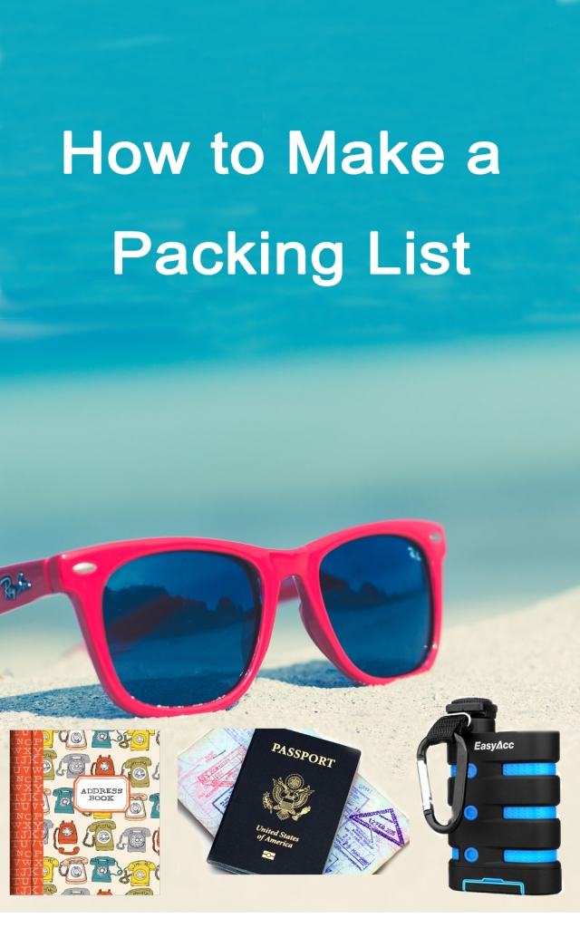 How to Make a Packing List