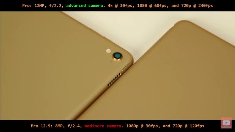 Ipad Pro 9.7 vs 12.9: Differences and Similarities: camera