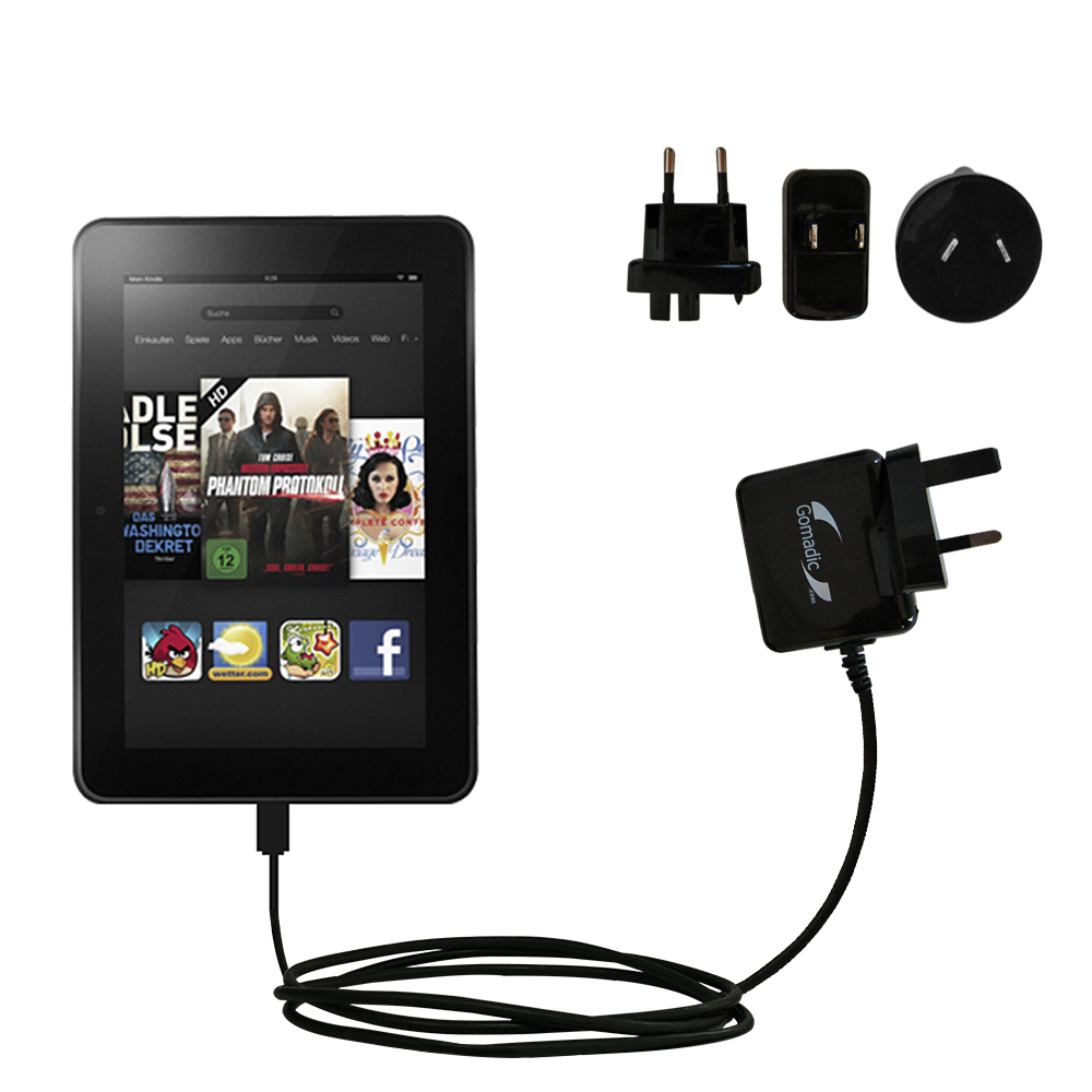 How to charge a Kindle with a power adaptor