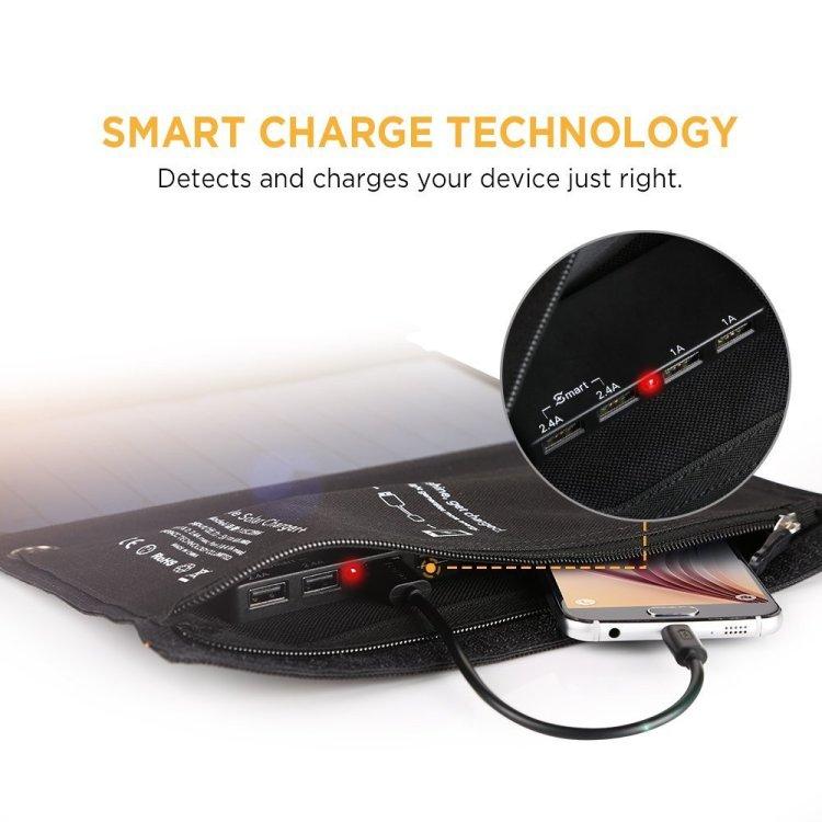 easyacc 28w solar panel, Smart technology
