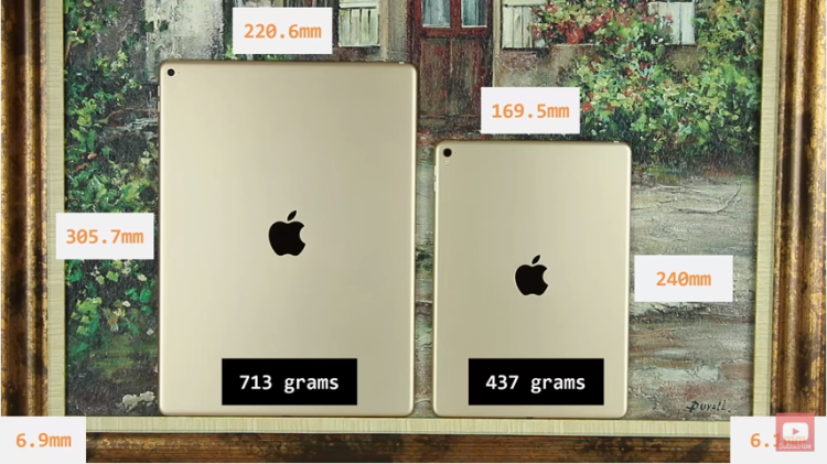 Ipad Pro 9.7 vs 12.9: Differences and Similarities: dimension