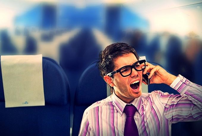 make-a-phone-call-on-airplane-loudly