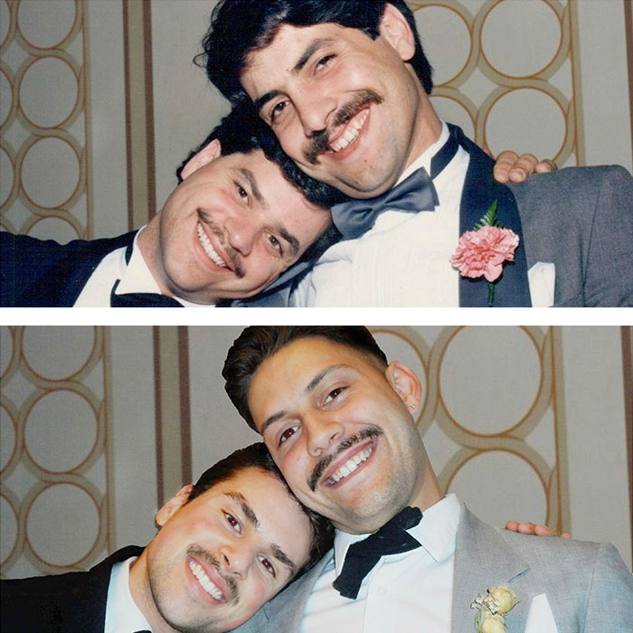 Dad And His Friend 30 Years Ago VS Me And His Son Today